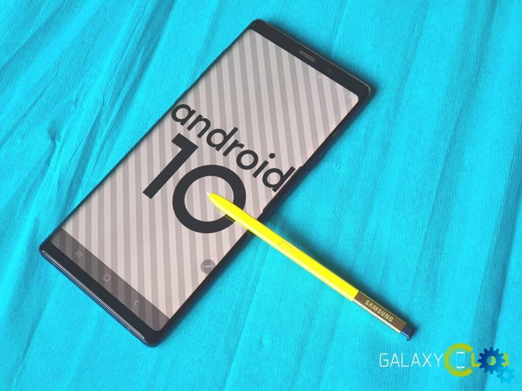 Samsung Galaxy Note 9 starts Android 10 update in the Netherlands – Vodafone first