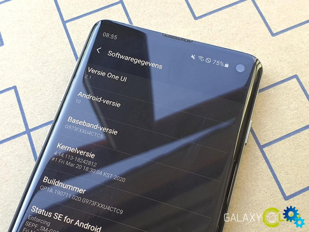 samsung galaxy s10 one ui 2.1 update in the netherlands