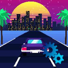 Do you want to drive through the neon streets? Retro Drive for iOS will make it possible for you