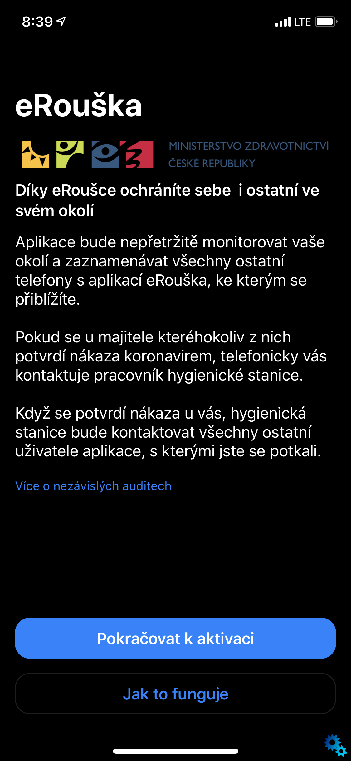 The application of eRouška for the fight against coronavirus in the Czech Republic has already arrived on iPhones