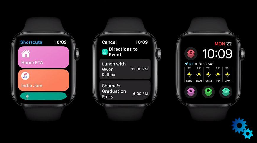 watchos 7 shortcuts
