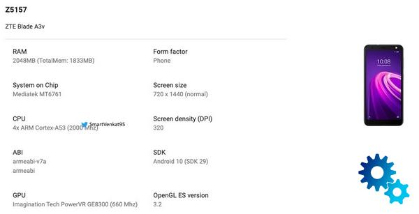 ZTE Blade A3v the low budget revealed by Google Play - ZTE Blade A3v: the low budget revealed by Google Play Console