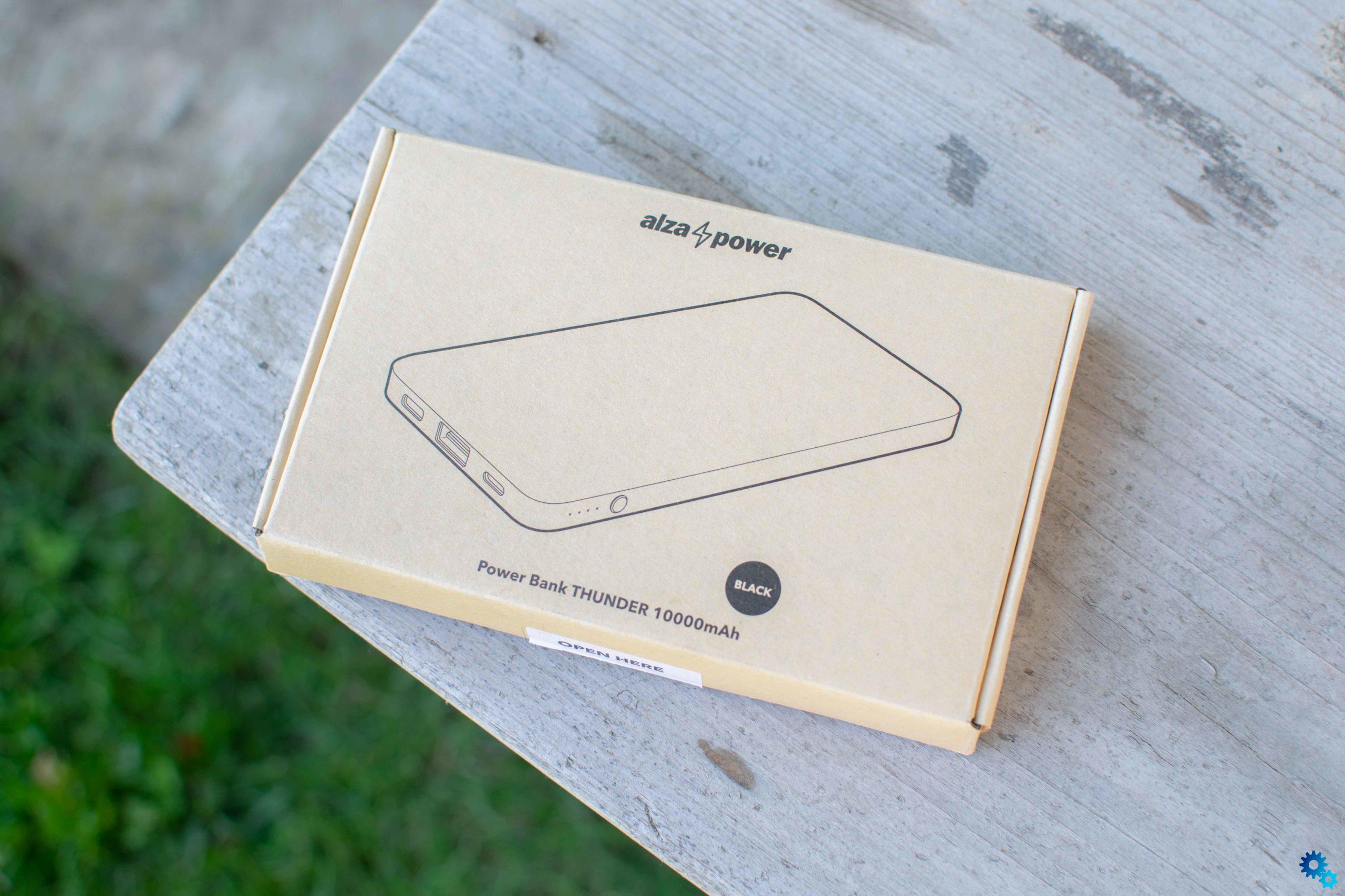 Review of AlzaPower Thunder 10000 mAh Fast Charge: Almost perfect power bank