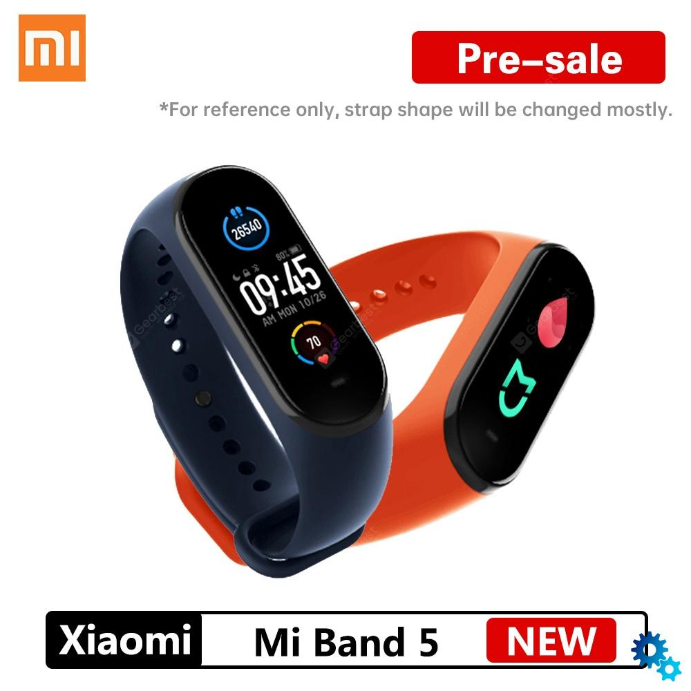 $26.59 Pre-sale NEW Xiaomi Mi Band 5 Smart Bracelet 4 Color AMOLED Screen Mijia Miband 5 Smartband Fitness Traker Bluetooth Sport Waterproof – Black China coupon code