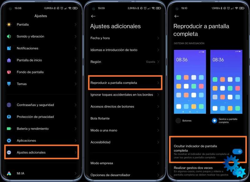 How to remove the bottom bar of MIUI 12 on your Xiaomi