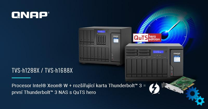 QNAP Introduces TVS-H1288X and TVS-H1688X NAS with Intel Xeon Processor W