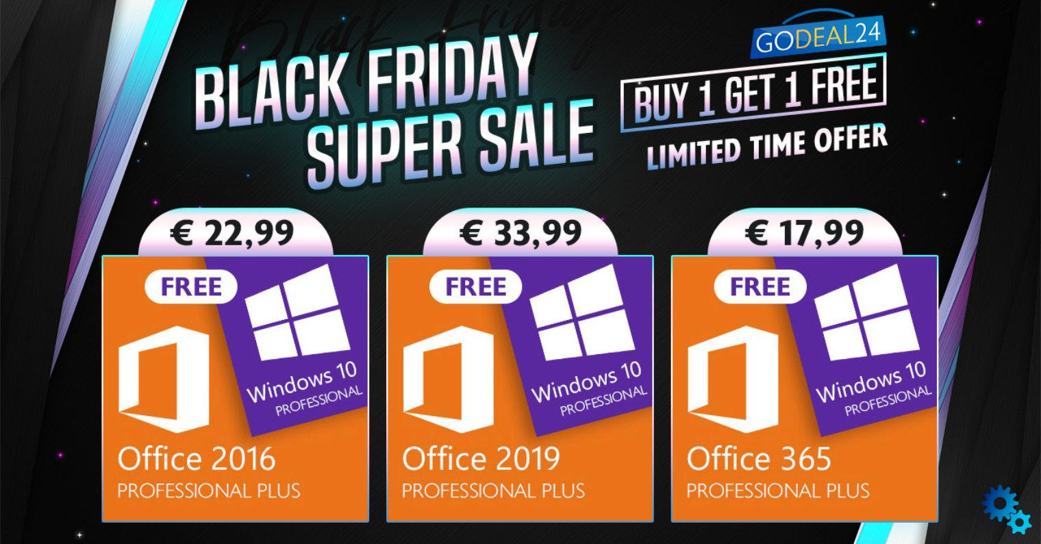 Black Friday has arrived on Godeal24 – so you can get Windows 10 for free