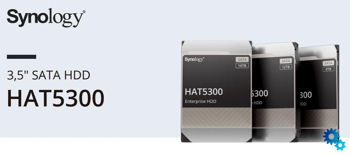 Synology HAT5300: New HDDs with 8 TB, 12 TB and 16 TB available now