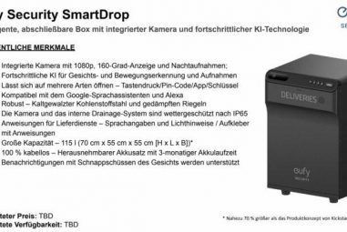 eufy Security SmartDrop is also sold in Germany