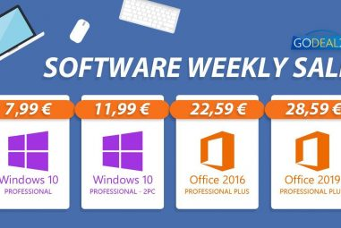 Weekly discount frenzy! Windows 10 for only € 7.99 on Godeal24
