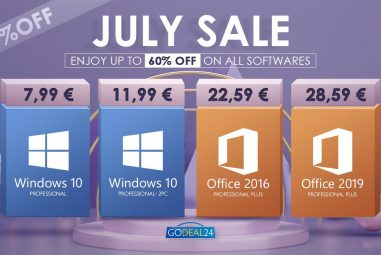 July load of discounts! You can get Windows 10 Pro for only € 7.99
